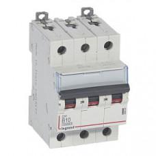 Выключатель автоматический трехполюсный DX3 10000 10А B 16кА | 408989 | Legrand