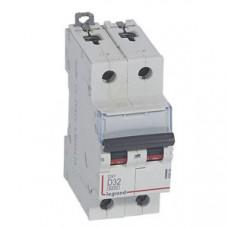 Выключатель автоматический двухполюсный DX3 6000 32А D 10кА | 408034 | Legrand