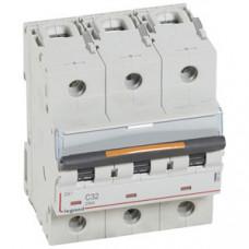 Выключатель автоматический трехполюсный DX3 32А C 25кА (4,5 мод) | 409784 | Legrand