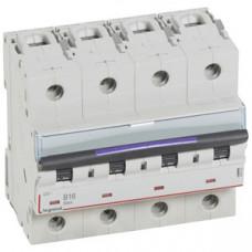 Выключатель автоматический четырехполюсный DX3 16А B 50кА (6 мод) | 410122 | Legrand