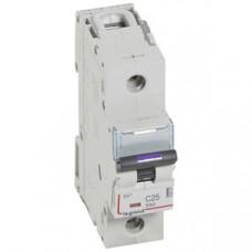 Выключатель автоматический однополюсный DX3 25А C 50кА (1,5 мод) | 410137 | Legrand