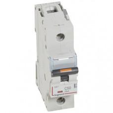 Выключатель автоматический однополюсный DX3 50А C 25кА (1,5 мод) | 409760 | Legrand