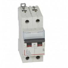 Выключатель автоматический двухполюсный DX3 10000 13А B 16кА | 408941 | Legrand