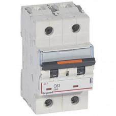 Выключатель автоматический двухполюсный DX3 63А C 25кА (3 мод) | 409774 | Legrand