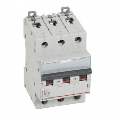Выключатель автоматический трехполюсный DX3 10000 50А B 16кА | 408996 | Legrand