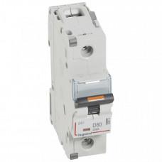 Выключатель автоматический однополюсный DX3 80А D 25кА (1,5 мод) | 409814 | Legrand