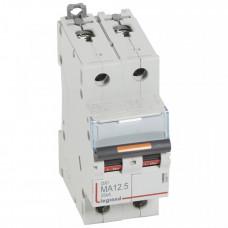 Выключатель автоматический двухполюсный DX3 12,5А MA 25кА   409871   Legrand