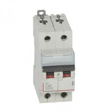 Выключатель автоматический двухполюсный DX3 6000 40А C 10кА | 407804 | Legrand