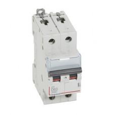 Выключатель автоматический двухполюсный DX3 6000 63А D 10кА | 408037 | Legrand
