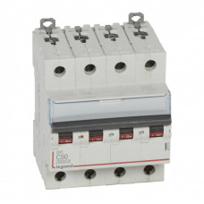 Выключатель автоматический четырехполюсный DX3 6000 50А C 10кА | 407933 | Legrand