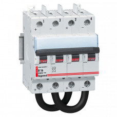 Выключатель автоматический двухполюсный DX3 DC 16А B 4,5кА (4 мод) | 414428 | Legrand