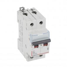 Выключатель автоматический двухполюсный DX3 10000 4А B 16кА | 408938 | Legrand