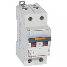 Выключатель автоматический двухполюсный DX3 10А D 25кА | 409819 | Legrand