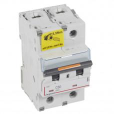 Выключатель автоматический двухполюсный DX3 80А C 25кА (3 мод) | 409775 | Legrand