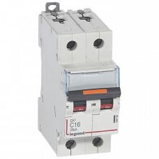 Выключатель автоматический двухполюсный DX3 16А D 25кА | 409820 | Legrand