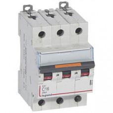 Выключатель автоматический трехполюсный DX3 16А C 25кА | 409781 | Legrand