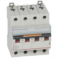 Выключатель автоматический четырехполюсный DX3 10А C 25кА | 409793 | Legrand