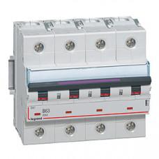 Выключатель автоматический четырехполюсный DX3 63А B 50кА (6 мод) | 410128 | Legrand