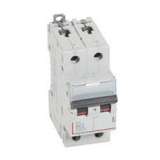 Выключатель автоматический двухполюсный DX3 6000 63А B 10кА   407515   Legrand
