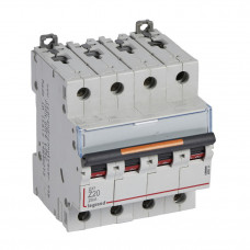 Выключатель автоматический четырехполюсный DX3 20А Z 25кА | 409936 | Legrand