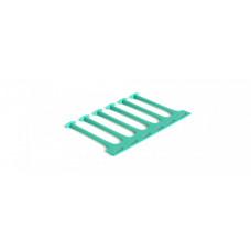 Гребенка CFS-6U-BL кабельного организатора, пластиковая, 6U, цвет голубой | 332991 | Hyperline
