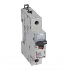Выключатель автоматический однополюсный DX3-E 6000 16А B 6кА   407207   Legrand