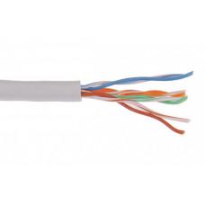 Кабель связи витая пара F/UTP, кат.5E 4x2х24AWG solid, PVC, 305м, серый | LC1-C5E04-311 | ITK