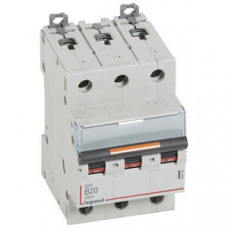 Выключатель автоматический трехполюсный DX3 20А B 25кА   409730   Legrand