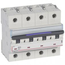 Выключатель автоматический четырехполюсный DX3 50А B 50кА (6 мод) | 410127 | Legrand