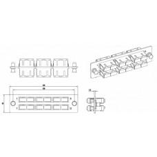 Панель FO-FPM-W120H32-6DSC-BG д. FO-19BX с 6 SC (duplex) адапт.ми,12вол.,многомод OM2,120x32мм,адап.цвета бежевый (beige) | 54207 | Hyperline