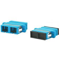 Адаптер проходной оптический FA-P11Z-DSC/DSC-N/BK-BL SC-SC, SM, duplex, корпус пластиковый, синий, черные колпачки | 243945 | Hyperline