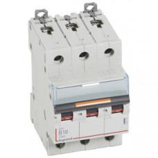 Выключатель автоматический трехполюсный DX3 16А B 25кА   409729   Legrand