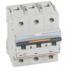 Выключатель автоматический трехполюсный DX3 63А B 25кА (4,5 мод)   409735   Legrand