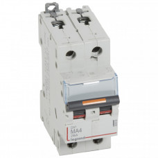 Выключатель автоматический двухполюсный DX3 4А MA 25кА   409868   Legrand