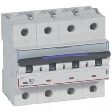 Выключатель автоматический четырехполюсный DX3 25А B 50кА (6 мод) | 410124 | Legrand
