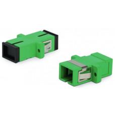 Адаптер проходной оптический FA-P11Z-SC/SC-N/BK-GN SC-SC, SM, simplex, корпус пластиковый, зеленый, черные колпачки | 242799 | Hyperline