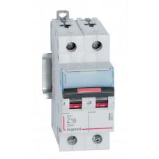 Выключатель автоматический двухполюсный DX3 16А Z 25кА | 409913 | Legrand