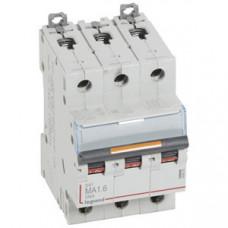 Выключатель автоматический трехполюсный DX3 1,6А MA 25кА   409876   Legrand