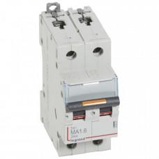 Выключатель автоматический двухполюсный DX3 1,6А MA 25кА   409866   Legrand