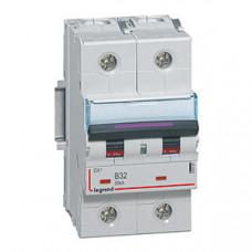 Выключатель автоматический двухполюсный DX3 32А B 50кА (3 мод) | 410101 | Legrand
