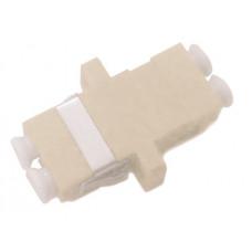 Адаптер проходной оптический FA-P11Z-DLC/DLC-N/WH-BG LC-LC, MM, duplex, корпус пластиковый, бежевый, белые колпачки | 242822 | Hyperline
