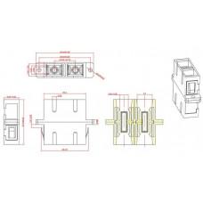 Адаптер проходной оптический FA-P11Z-DSC/DSC-N/BK-BG SC-SC, MM, duplex, корпус пластиковый, бежевый, черные колпачки | 242823 | Hyperline