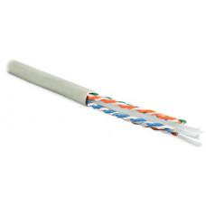 Кабель витая пара UUTP4-C6-S23-IN-LSZH-GY-305(305м)U/UTP,кат.6,4п.(23AWG),одн.(solid),с разд.,LSZH,нг(С)-HF,–20°C–+75°C,сер.   42048   Hyperline