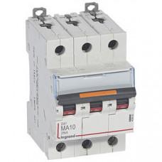 Выключатель автоматический трехполюсный DX3 10А MA 25кА   409880   Legrand
