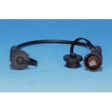 Патч-корд PC-IE-LPM-UTP-RJ45-RJ45-C6-3M-BK Промышленный U/UTP, IP67, категория 6, с защитными крышками, 3 м, черный | 46936 | Hyperline