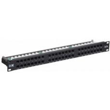 Патч-панель 1U кат.5Е UTP 48 портов (IDC Krone) | PP48-1UC5EU-K05 | ITK