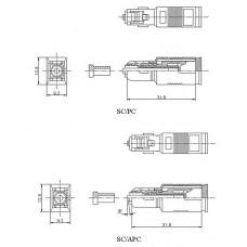Аттенюатор ATT-SC-SC-APC-7dB волоконно-оптический SC-SC, APC, 7dB   53138   Hyperline
