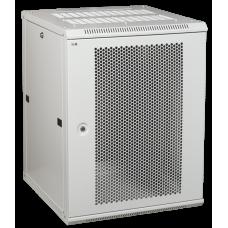 Шкаф LINEA W 9U 600x600 мм дверь перфорированная, RAL7035 | LWR3-09U66-PF | ITK