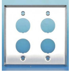 Панель лицевая FP-IE-U-4-SL для 4-х промышленных модулей, IP67, нержавеющая сталь | 46281 | Hyperline