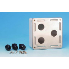 Коробка настенного монтажа SBB-IE-3-SL для 3-х промышленных модулей, IP67, нержавеющая сталь | 46193 | Hyperline